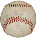 Autographs:Baseballs, 1956 Milwaukee Braves Team Signed Baseball....