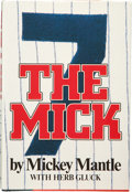 "Autographs:Others, Mickey Mantle Signed ""The Mick"" Book...."