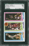 Basketball Cards:Singles (1980-Now), 1980-81 Topps Bird and Johnson Rookie #6 SGC 84 NM 7....