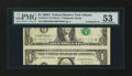 Error Notes:Miscellaneous Errors, Fr. 1915-F $1 1988A Federal Reserve Note. PMG About Uncirculated 53.. ...