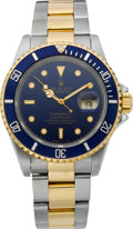 Timepieces:Wristwatch, Rolex Ref. 16610 Two Tone Submariner, circa 1990. ...
