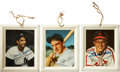 Autographs:Bats, 1950's Wheaties Tin Tray Photographs Lot of 3, Signed by 2....