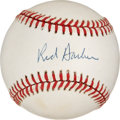 Autographs:Baseballs, Red Barber Signed Baseball....