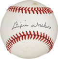Autographs:Baseballs, Dixie Walker Signed Baseball....
