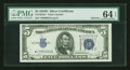Small Size:Silver Certificates, Fr. 1654* $5 1934D Narrow Silver Certificate. PMG Choice Uncirculated 64 EPQ.. ...