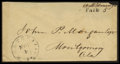 """Stamps, Montevallo, Ala Handstamp PAID with """"5"""" in Manuscript Type I 5(ms),..."""