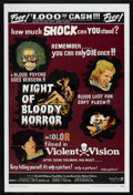 """Movie Posters:Horror, Night of Bloody Horror (Howco, 1969). One Sheet (27"""" X 41""""). Horror.. ..."""