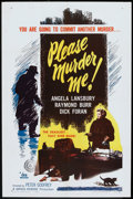 """Movie Posters:Crime, Please Murder Me (DCA, 1956). One Sheet (27"""" X 41""""). Crime.. ..."""