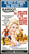 "Movie Posters:Adventure, The Pirate of the Black Hawk (Film Group, 1961). Three Sheet (41"" X81""). Adventure.. ..."