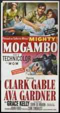 "Movie Posters:Adventure, Mogambo (MGM, 1953). Three Sheet (41"" X 81""). Adventure.. ..."
