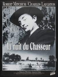"The Night of the Hunter (Cine Classic, R-1990s). French Grande (47"" X 63""). Film Noir"