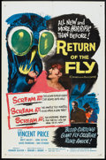 "Movie Posters:Science Fiction, Return of the Fly (20th Century Fox, 1959). One Sheet (27"" X 41"").Science Fiction.. ..."