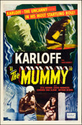 "Movie Posters:Horror, The Mummy (Realart, R-1951). One Sheet (27"" X 41""). Horror.. ..."