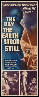 "The Day the Earth Stood Still (20th Century Fox, 1951). Insert (14"" X 36""). Science Fiction"