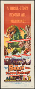 "Movie Posters:Science Fiction, The Beast from 20,000 Fathoms (Warner Brothers, 1953). Insert (14""X 36""). Science Fiction.. ..."