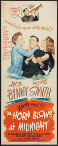 """Movie Posters:Fantasy, The Horn Blows at Midnight (Warner Brothers, 1945). Insert (14"""" X 36""""). Fantasy.. ..."""