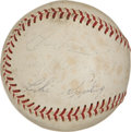 Autographs:Baseballs, 1960's Hall of Famers Signed Baseball with Foxx, Wheat....