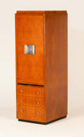 Furniture , HENRI RAPIN. A Loupe d'Amboyne and Nickel Plated Bronze Dressing Cabinet, circa 1930. 75 x 24 x 28-3/4 inches (190.5 x 61.0 ...