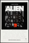 "Movie Posters:Science Fiction, Alien (20th Century Fox, 1978). Advance One Sheet (27"" X 41"") FlatFolded. Science Fiction.. ..."