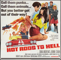 "Hot Rods to Hell (MGM, 1967). Six Sheet (81"" X 81""). Cult Classic"