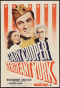 "Movie Posters:War, Sergeant York (Warner Brothers, R-1949). One Sheet (27"" X 40""). War.. ..."