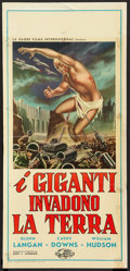 "Movie Posters:Science Fiction, The Amazing Colossal Man (Globe Films, 1958). Italian Locandina(13"" X 27""). Science Fiction.. ..."