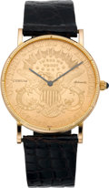 Timepieces:Wristwatch, Corum Automatic Gold Twenty Dollar Coin Wristwatch, circa 1980. ...