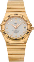 Timepieces:Wristwatch, Omega Gold 50th Anniversary Gents Constellation, circa 2002. ...