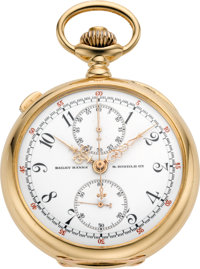 Patek Philippe & Cie Very Fine Gold Pocket Watch with Split-Seconds Chronograph and Instantaneous 60-Minute Register...