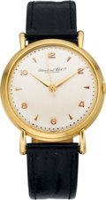 Timepieces:Wristwatch, International Watch Co. Vintage Gold Wristwatch, circa 1950's. ...