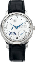 Timepieces:Wristwatch, F.P. Journe Very Fine And Rare Platinum Octa Automatic Lune Chronometer No. 051-AL, circa 2007. ...