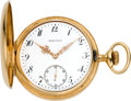 Timepieces:Pocket (post 1900), Patek Philippe Gold Hunters Case Pocket Watch, circa 1902. ...