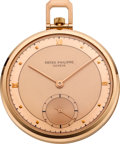 Timepieces:Pocket (post 1900), Patek Philippe Ref. 707 Rose Gold Gent's Pocket Watch, circa 1960. ...