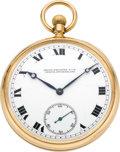 Timepieces:Pocket (post 1900), Patek Philippe Men's Gold Pocket Watch, circa 1916. ...