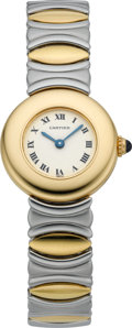 Timepieces:Wristwatch, Cartier Lady's Two Tone Wristwatch, circa 2000. ...