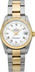 Timepieces:Wristwatch, Rolex Two Tone Oyster Perpetual Datejust, Ref. 68000, circa 1991. ...