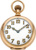 Timepieces:Pocket (pre 1900) , Vacheron & Constantin Gold Pocket Watch With Unusual Dial,circa 1889. ...