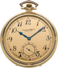 Timepieces:Pocket (post 1900), International Watch Co. Gent's Gold & Enamel Pocket Watch, circa 1915. ...
