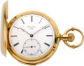 Timepieces:Pocket (pre 1900) , Jacot Freres Massive Gold Minute Repeating Pocket Watch, circa1890's. ...