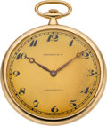 Timepieces:Pocket (post 1900), Tiffany & Co. Ultra Thin High Grade By Touchon, circa 1915. ...