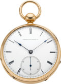 Timepieces:Pocket (pre 1900) , Waltham Rare 20 Size Appleton Tracy & Co. In Original GoldCase, circa 1864. ...