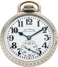Timepieces:Pocket (post 1900), Illinois 23 Jewel 60 Hour Bunn Special With Marked Dial, circa1929. ...