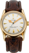 "Timepieces:Wristwatch, Rolex Ref. 6018 Gold ""Bombay"" Bubbleback, circa 1940's. ..."