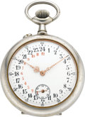 Timepieces:Pocket (post 1900), Swiss Unique 24 Hour Dial Pocket Watch, circa 1905. ...