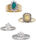 Estate Jewelry:Lots, Lot of Diamond, Multi-Stone, Gold Rings. ... (Total: 4 Items)