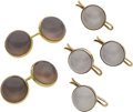 Estate Jewelry:Suites, Gentleman's Chalcedony, Gold Dress Set. ... (Total: 6 Items)