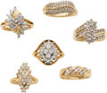 Estate Jewelry:Lots, Lot of Diamond, Gold Rings. ... (Total: 6 Items)