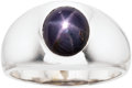 Estate Jewelry:Rings, Gentleman's Star Sapphire, White Gold Ring . ...