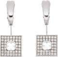 Estate Jewelry:Earrings, Diamond, White Gold Earrings . ... (Total: 2 Items)