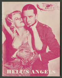 """Hell's Angels (United Artists, 1930). Program (Multiple Pages, 5"""" X 6.5""""). War"""